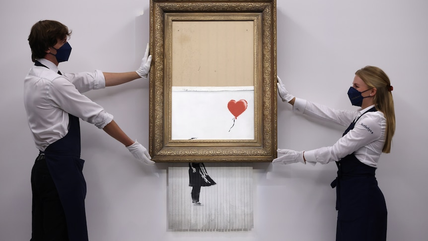 Banksy's Love Is In The Bin Sells for A$34.3m