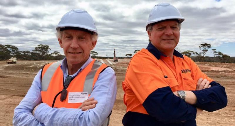Pioneer Resources (ASX:PIO) - Chairman, Craig Mcgown (left)