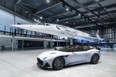 The Aston Martin DBS Superleggera earns the British Airways Logo