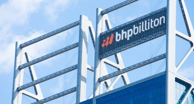 BHP shares slide on half year update