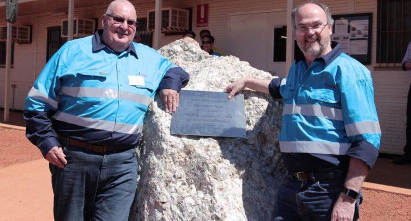 Altura Mining (ASX:AJM) - Managing Director, James Brown (left) & Mines Minister, Bill Johnston (right)