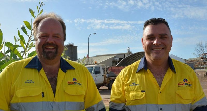 Red River Resources (ASX:RVR) - Managing Director, Mel Palancian (right)