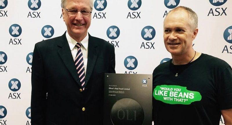 Oliver's Real Foods (ASX:OLI) - Founder & CEO, Jason Gunn (right) Former Chairman, Mark Richardson (left)