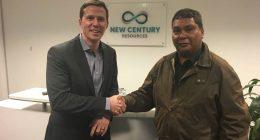 New Century Resources (ASX:NCZ) - Managing Director, Patrick Walta (left) - The Market Herald