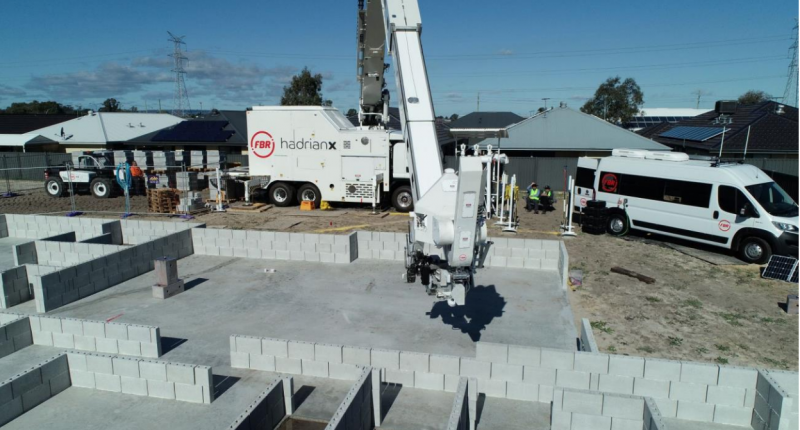 FastBrick (ASX:FBR) completes first display home walls using Hadrian X