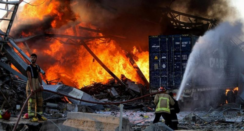 Widespread damage in Beirut following catastrophic explosion