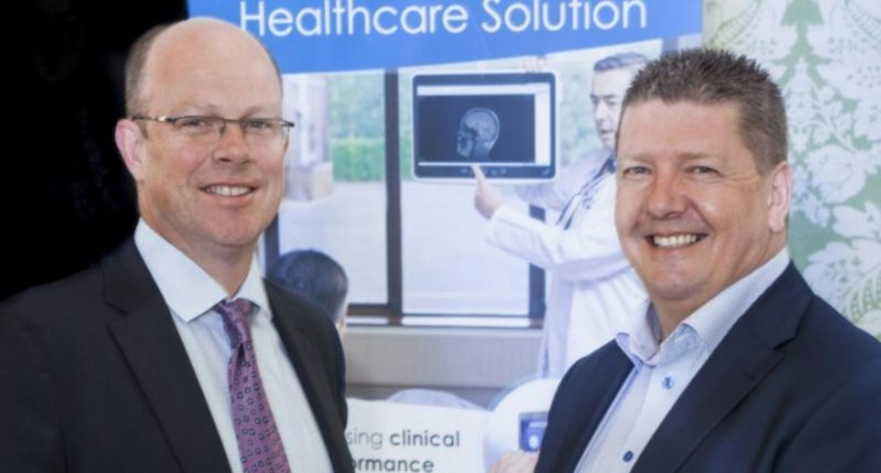 Oneview Healthcare (ASX:ONE) - CEO, James Fitter (left) and President & Founder, Mark McCloskey (right)