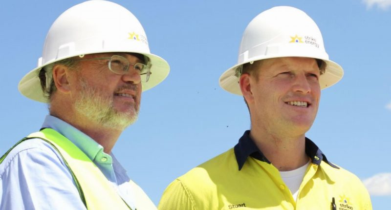 Strike Energy (ASX:STX) - CEO & Managing Director, Stuart Nicholls (right) - The Market Herald