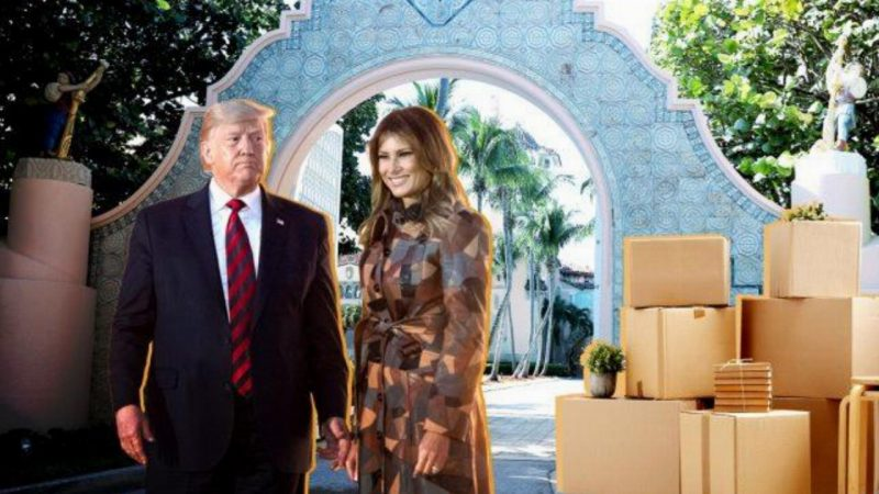 Trump Returns to His $300M Palm Beach Palace