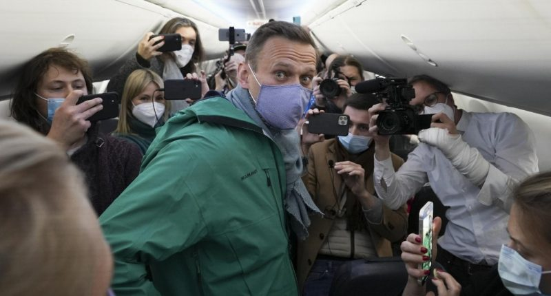 Poisoned Putin opposition Alexei Navalny arrested in Moscow