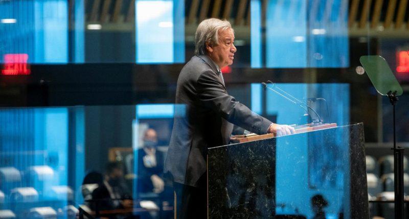 U.N. chief urges tax on pandemic profiteers to address inequality
