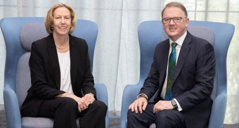 Woodside Energy (ASX:WPL)- Acting CEO, Meg O'Neill (left) and Former CEO, Peter Coleman (right) - The Market Herald