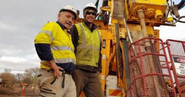 Iceni Gold (ASX:ICL) - Executive Chairman, Brian Rodan (left) with a member of the exploration team. - The Market Herald