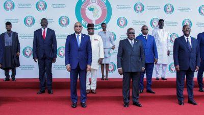 West African bloc sanctions Guinea coup leaders, junta meets miners